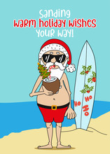 Summer Santa Claus: Sanding Wa...