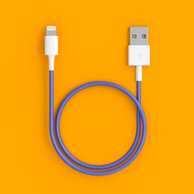 3d Render Of A Classic Usb Cable