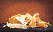 Different Types Of Cheese On B...