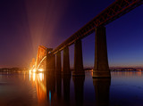 Forth Bridge at night, Scotland