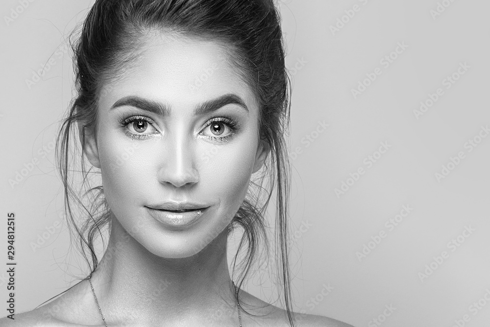 Fototapeta Natural beauty girl portrait.