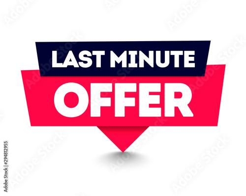 Cuadros en Lienzo Vector Illustration Last Minute Offer Commercial Pin