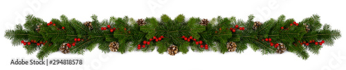 Fotografia Christmas frame of tree branches