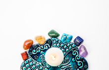 Top View Of All 7 Chakra Color...