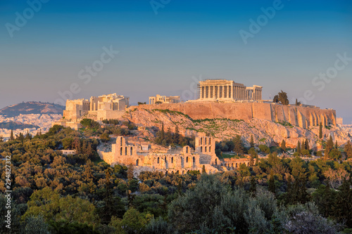 Printed kitchen splashbacks Athens Sunset at the Parthenon Temple at the Acropolis of Athens, Greece