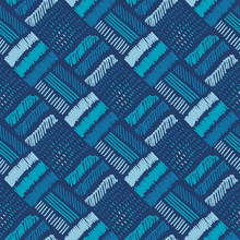 Hand Drawn Water Blue Tribal S...