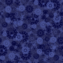 Seamless Background With Blue Snowflakes For Christmas Decorations