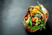 Colorful Organic Vegetables In...