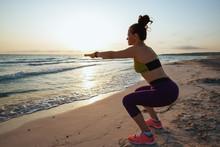 Healthy Woman On Seashore In E...