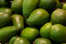 Close-up Of Green Ripe Avocado...
