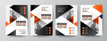 Modern Orange And Black Design...