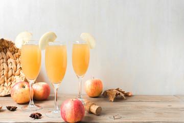 Apple Mimosa Cocktail