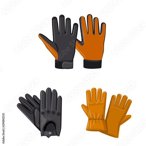 Valokuvatapetti Isolated object of glove and winter symbol