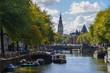 Leinwanddruck Bild - Canals of the Amsterdam city