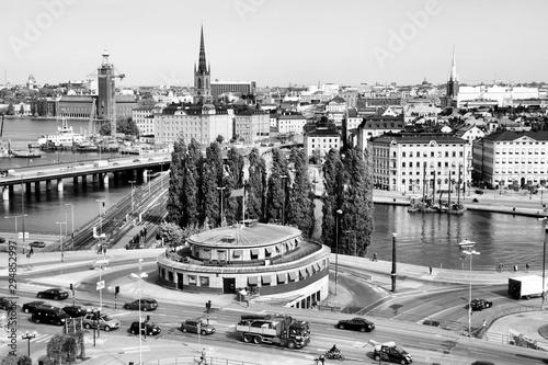 Foto auf Gartenposter Stockholm Stockholm. Black and white vintage style.