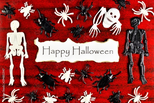 Halloween background, autumn holiday of evil forces Wallpaper Mural