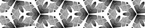 Foto  Grey black and white vintage kaleidoscope Seamless