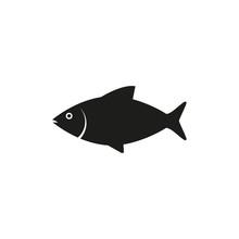 Fish, Food, Sea Icon. Vector Illustration, Flat Design.