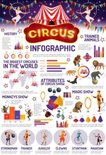 Circus Infographic, Animals An...
