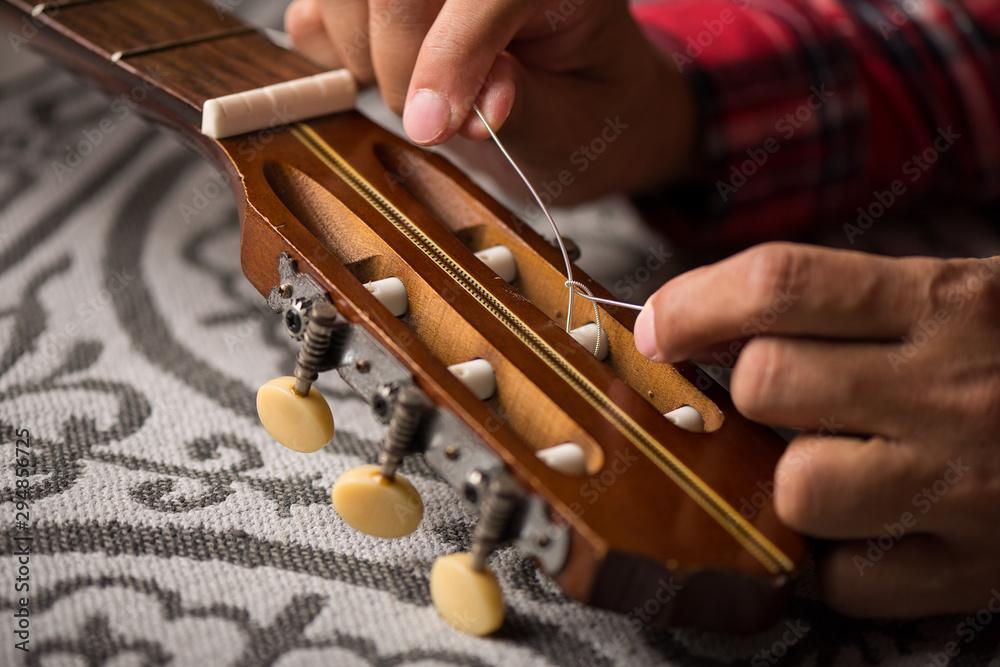 Fototapeta restring classical guitar