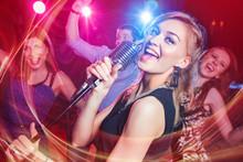 Karaoke Party In Club