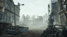 Ruins Of A City. Apocalyptic L...