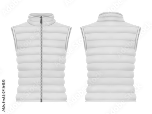 Pinturas sobre lienzo  Front and back of vest jacket or sleeveless puffer