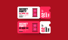 Secret Door Hidden Party Invit...
