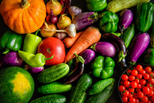 A Pile Of Various Vegetables O...