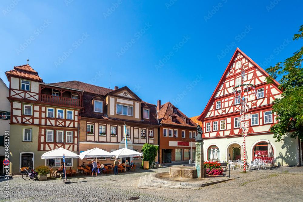 Fototapeta Kornmarkt, Bad Windsheim, Bayern, Deutschland