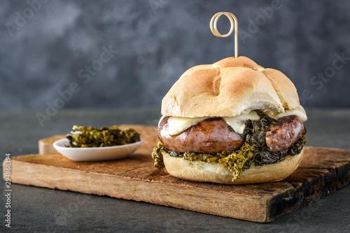 Fotografie, Obraz  salsiccia michetta sandwich