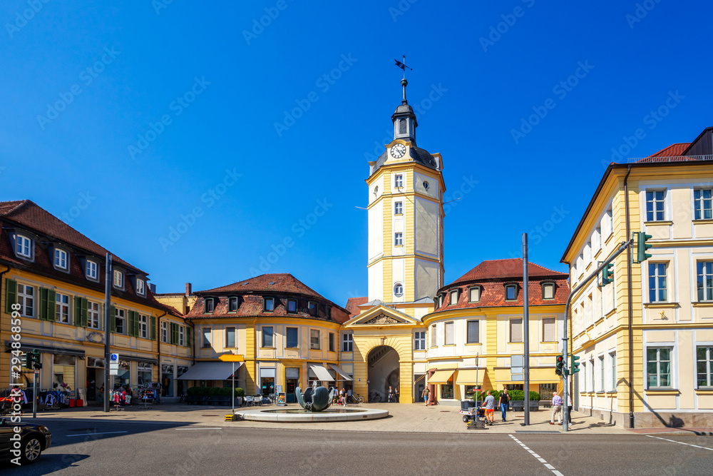 Fototapety, obrazy: Herrieder Tor, Ansbach, Bayern, Deutschland
