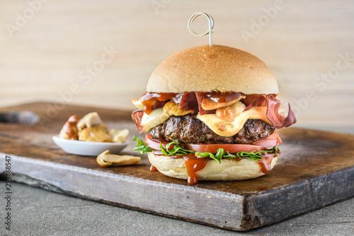 Fotografie, Obraz  scamorza bacon burger