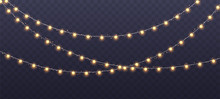 Christmas Garland Isolated On ...