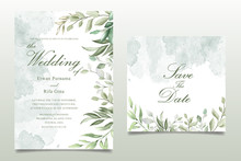 Greenery Watercolor Floral Wed...
