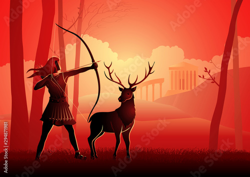 Photo Greek Gods and Goddess Artemis