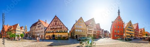Panorama, Dinkelsbühl, Bayern, Deutschland
