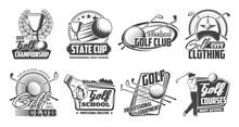 Golf Sport. Club, Stick And Ball Cions