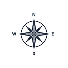 Compass Icon. Wind Rose Sign. ...
