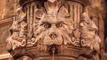 Details Of Fountain In Old Town In Croatia