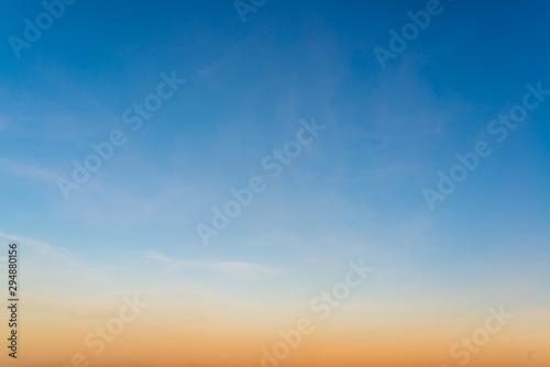Keuken foto achterwand Ochtendgloren Fantastic soft clouds at sunrise, natural composition
