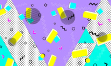 Animation Cyan Banner. Purple ...