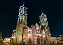 Puebla Cathedral In Mexico At ...