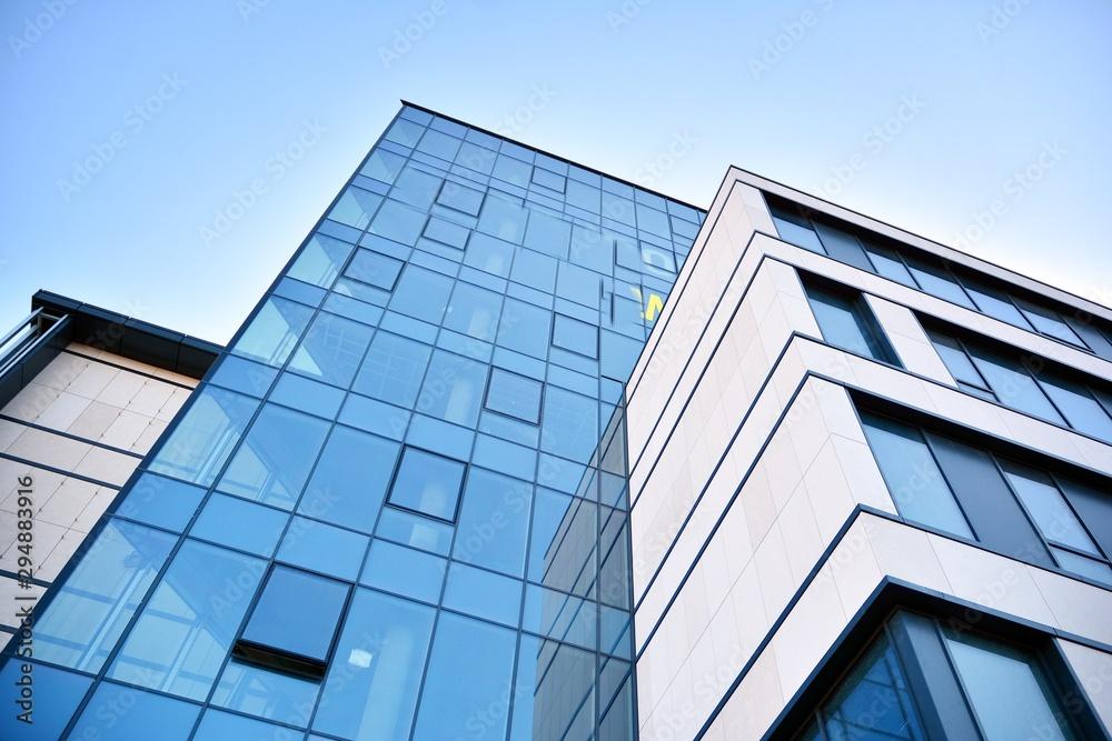 Fototapeta Fragment of new business center building