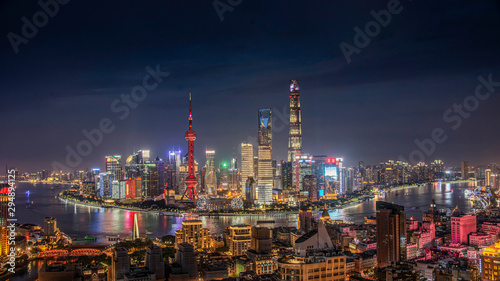 Foto auf Gartenposter Shanghai shanghai di notte