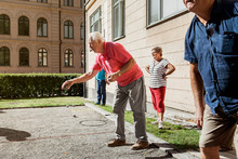 Seniors Playing Petanque