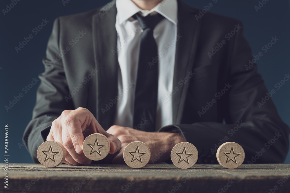 Fototapeta Business rating and quality concept