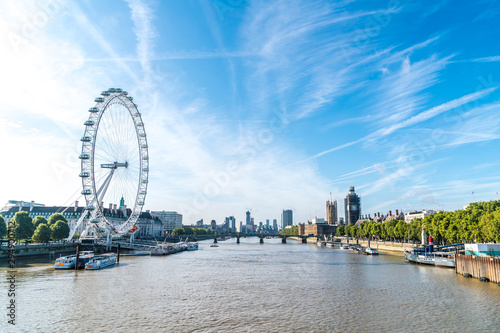 Fototapeta Big Ben and Westminster Bridge in London, UK