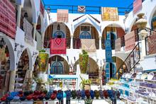 Tunisia. (Southern Tunisia). Island Of Djerba. Houmt Souk. Souvenir Shop For Tourists In The Medina