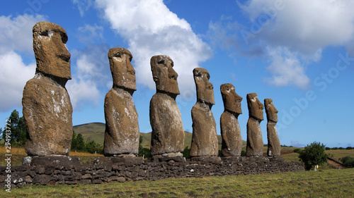 amazing idols and cave paintings of easter island Wallpaper Mural